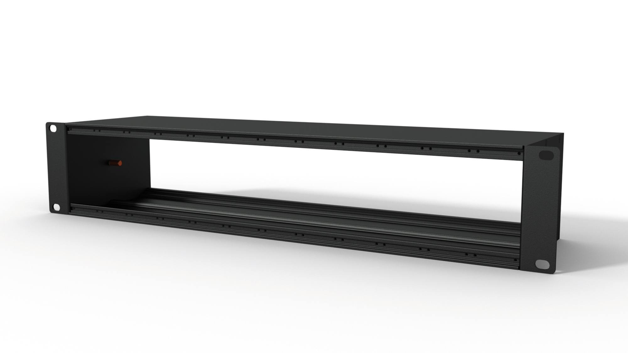 "CASY modular patching solution chassis 12 space - 2he 19"" mounting - 120mm. Black."
