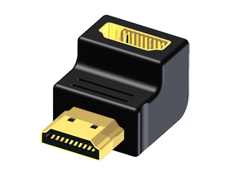 Adapter HDMI 19 Female to HDMI 19 Male - 90º Angled