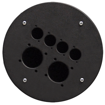 Centre Connection Plate with 2 x Schuko and 4 x D-size Hole